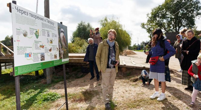 A new ecological trail «Through creation to the Creator» was opened on the territory of the Lauryshava Monastery